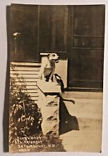 Fairmount N D American Staffordshire Terrier & Magpie Real Photo Post Card 1942