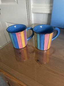 Whittard Of Chelsea  Handpainted Mugs X 2
