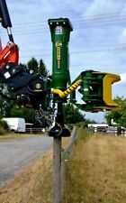 Grab-n-Drive model GD20S fence post driver attachment with log grapple