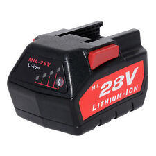 Power Tool Battery For MILWAUKEE 28V M28 V28 48-11-2830 3000 mAh with LED Gauge