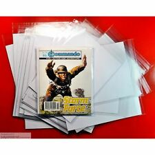 25 x Commando War Picture Library Size Comic Bags. Crystal Clear Sleeves Size1 .