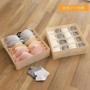 Collapsible Closet Organizer Divider Boxes for Storing Socks Lingerie Underwear