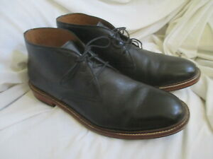 COLE HAAN MENS BLACK LEATHER ANKLE BOOTS, SIZE 11.5M