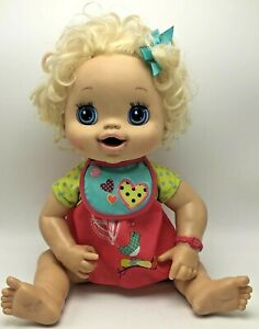 Baby Alive Doll Hasbro 2010 Blonde Hair Interactive Doll Talks