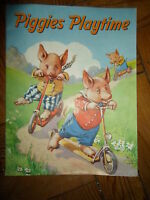 RARE Vintage - PIGGIES PLAYTIME +Illustrated Collectable Childrens Paperback