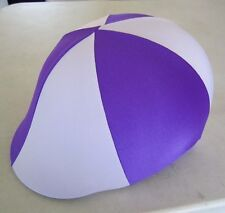 Horse Helmet Cover ALL AUSTRALIAN Purple &  mauve Choose your size