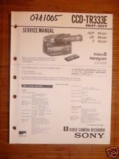 Service Manual sony ccd-tr333e video 8 Handycam, origin