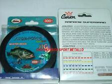 FILO TRECCIATO CARSON SUPER BRAID Rainbow jig 300 mt 50 lbs Multicolor pesca