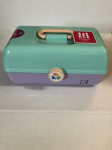 Caboodles On-The-Go Girl Sea foam Lid & Lavender Base Vintage Case Style NWT