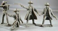 1/32 Tombstone Gunfighters Series 4 Figures Plastic Toy Earp Bros