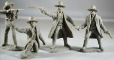 1/32 Tombstone Gunfighters Series 4 Figures Plastic Toy Earp Bros