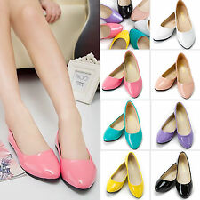 Women Flat Slip-On Boat Shoes Informal Ballet Dolly Work Pointy Toe Loafer Shoes
