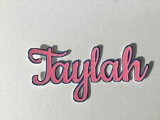 Layered GLITTER name cut out tooth pick cake topper for Birthday cakes/scrapbook
