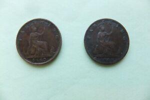 VICTORIA.   Farthing 1860   &  1864.