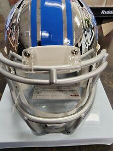 Detroit Lions Unsigned Riddell Alternate Chrome Mini Helmet New In Box NFL