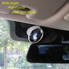 Blind Spot WIDE ANGLE MIRROR Rear View Suction Driving Instructor Adjustable