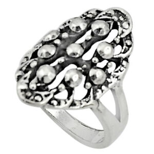 DAILY DEALS Indonesian Bali Style Solid 925 Sterling Silver Ring Size 8 C5221