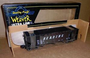 "* Weaver O Scale  ""Reading 3-Bay Hi Rail Coal Hopper Car #41362"" w/ Box"