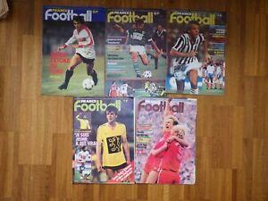 5x Magazine FRANCE FOOTBALL Nr 1791 1794 1795 1797 1800    (1980)