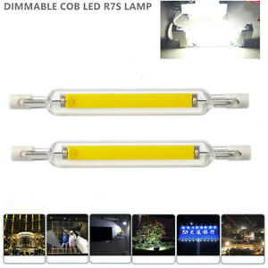 R7S Dimmable LED Lamp Bulb Glass Tube For Replace Halogen Light Spot Light 118mm