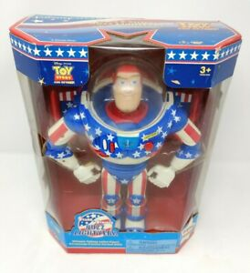 Vintage STARS AND STRIPES BUZZ LIGHTYEAR Talking Figure Toy Story Thinkway