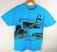 Vintage 1980s Ocean Pacific OP Surf Wear Two Sided T Shirt USA Sz L