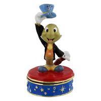 Disney Classic Jewelled Trinket Box Ornament Jiminy Cricket in Gift BOX   22174