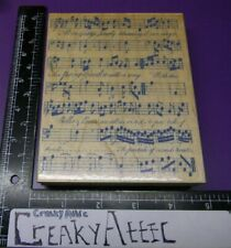 Sheet Music Rubber Stamp  Hand Written Background Notes Score  Great Impressions