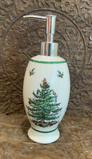 SPODE Christmas Tree soap Lotion Pump Dispenser 8.5 inches