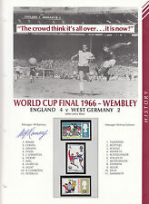 1966 ENGLAND WORLD CUP SHEET SIGNED BY MANAGER ALF RAMSEY 1966 ENGLAND WORLD CUP