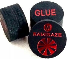 Kamikaze Black Layered Cue Tips  14 MM  (Med) (3 Tips)  Fast Shipping....