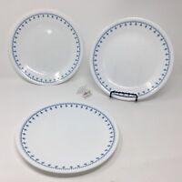 "Set of 3 Corelle USA ""Snowflake Garland"" Lunch Plates - 8 1/2"" Diameter !!"