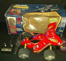 VINTAGE VERY RARE RADIO CONTROL MONGOOSE RED RC VAR 6.0V 1:16 scale speed 135mph
