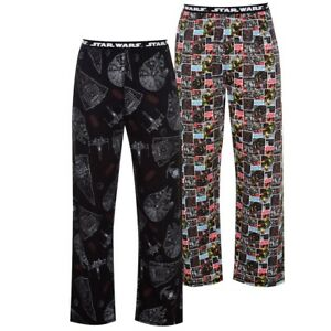 OFFICIAL DISNEY Star Wars bottoms Mens s 2 pack PJ's SMALL DARTH VADER CHEWBACCA