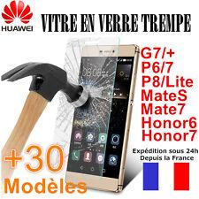 Vitre VERRE TREMPE Film Protection HUAWEI Mate10/8,Honor 9/8/7,P7/P8/P9/P10/P20