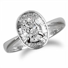 Engagement Very Good Cut Natural SI2 Fine Diamond Rings