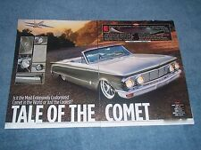 "1963 Mercury Comet Convertible Mild Custom Article ""Tale of the Comet"""