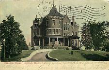 Postcard Eleanor Moore Hospital, Boone, Iowa - used in 1908