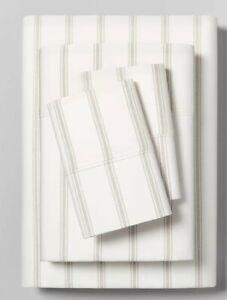 BRAND NEW Hearth & Hand Organic Tic Stripe California King Sheet Set