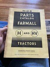 Ih Farmall Mccormick Deering International Parts Catalog Tc 27b Tractors H Amp Hv