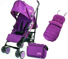 Girls Purple Lightweight Stroller Buggy Inc Luxury Footmuff Raincover & Bag