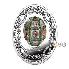 Niue Island 2016 1$ 15 Jähriges Jubiläum Ei Imperial Faberge Eier Silbermünze