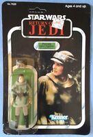 Vintage Star Wars ROTJ figure: Princess Leia Organa Combat Poncho, 77 back 1983
