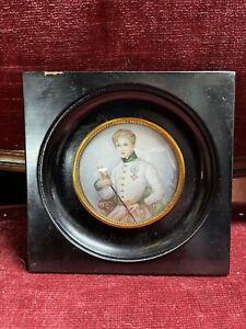 tableau miniature Portrait Peinture XIX EME signe Duvivier