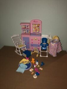 Happy Family Barbie Doll Midge Nursery Baby Playset Play Set Room Complete