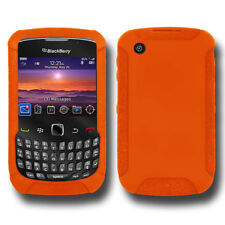AMZER ORANGE SILICONE SKIN JELLY CASE COVER FOR BLACKBERRY CURVE 3G 9300 8530