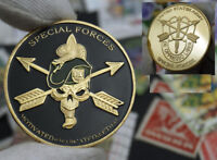 Military Green Beret US Army Special Forces Challenge Coin In Clear Capsule