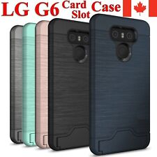 LG G6 Shockproof Hybrid Card Slot KickStand Hard Cover Case