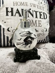 Tkmaxx Halloween Black Wicked Witch Broomstick Crystal Ball Hand Soap Dispenser