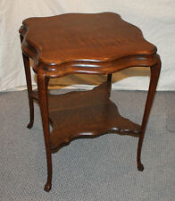 Oak Antique Lamp Table with carved claw feet